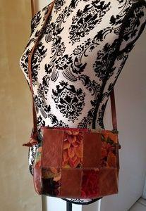Handbags - Leather Patchwork Crossbody